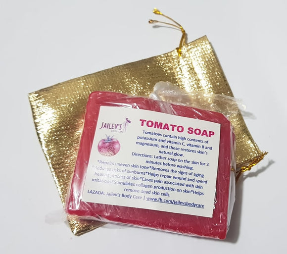 20pcs Jailev's Tomato Soap 90g (Excess Cut)
