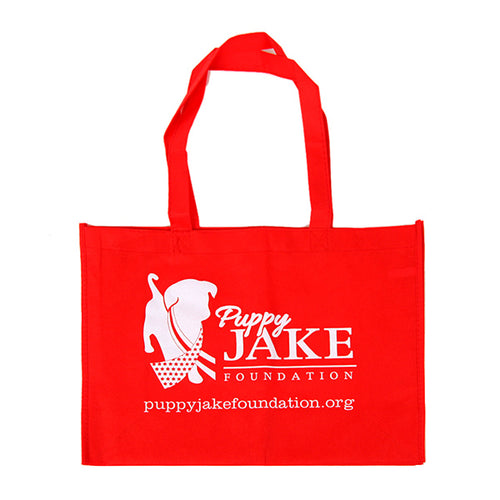 Puppy Jake Foundation reusable tote bag