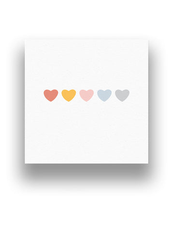 Coloured Hearts