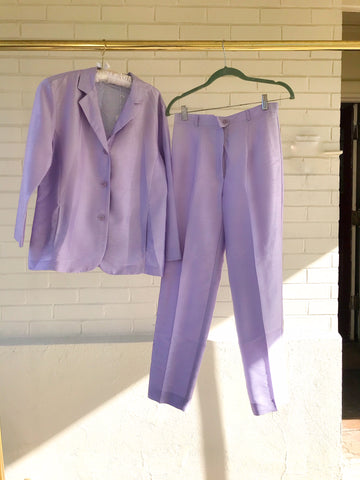 Metallic Purple Suit