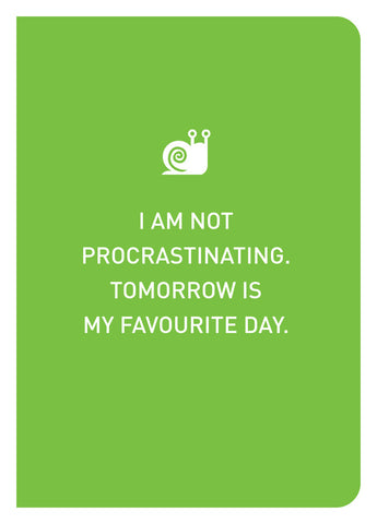 Epigram Books Singapore Independent Book Publishing - I Am Not A Procrastinator Notebook