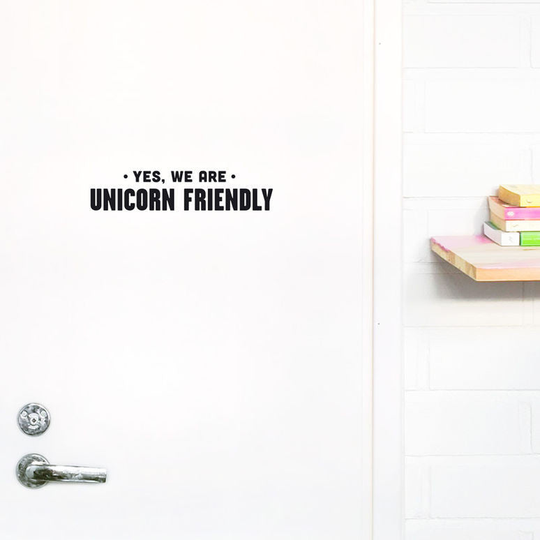 Naiise.com - Made of Sundays Unicorn Friendly Wall Decal