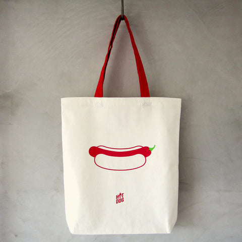 On Days I Crave Foodie Artist - Chilli Hot Dog Tote Bag