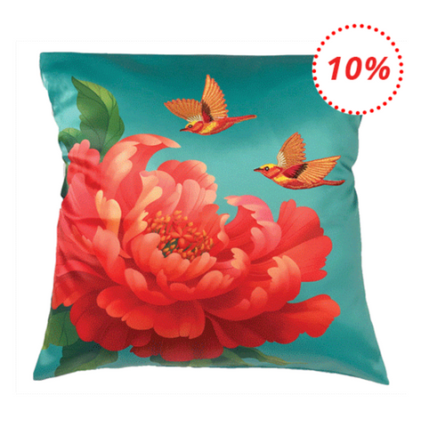 Peonies cushion cover, 8 CNY HOME ESSENTIALS FOR  THE YEAR OF THE PIG,