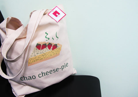 The Grapfeeks Room Singapore Design - Chao Cheese Pie Canvas Tote Bag