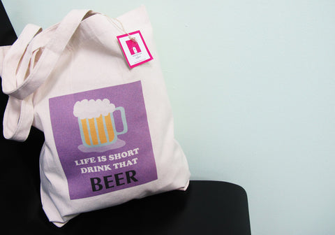 The Grapfeeks Room Singapore Design - Drink-That-Beer Canvas Bag