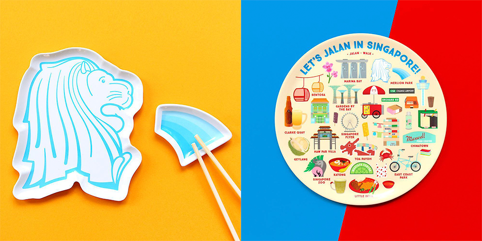 Merlion Plate and Saucer & Let's Jalan Plate | THE FARM STORE
