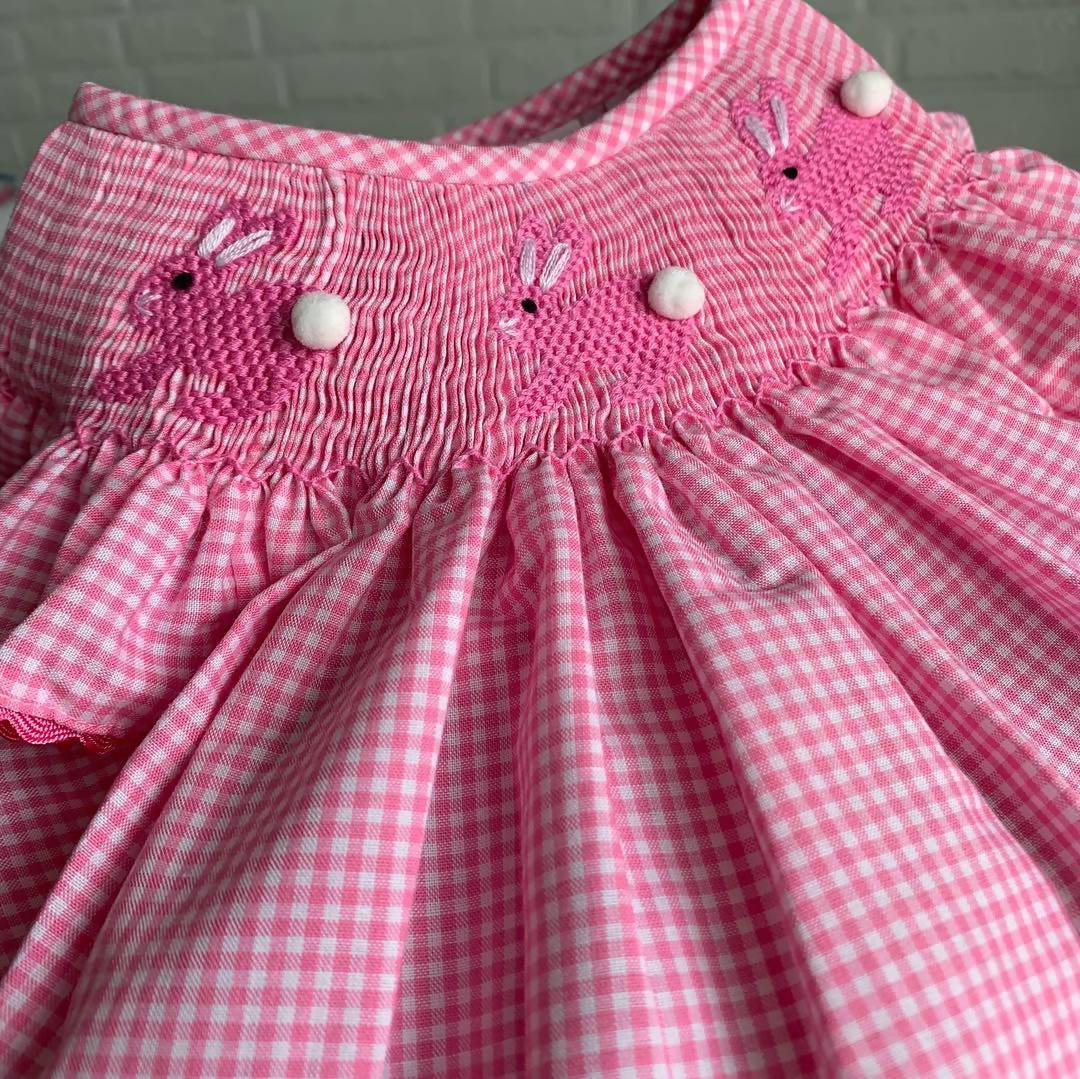 Dainty Bunny Bishop Dress Kids Clothing Smockful Of Love