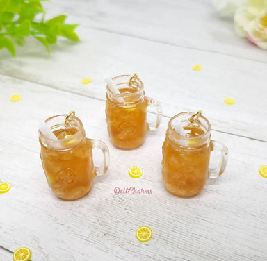 Miniature Iced Lemon Tea Mason Jar Charm - Charms - Deli Charms - Naiise