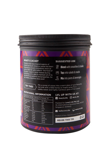 100% Cacao Powder - 150g Health Food LVL