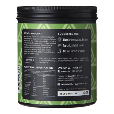 100% Matcha Powder - 150g Health Food LVL