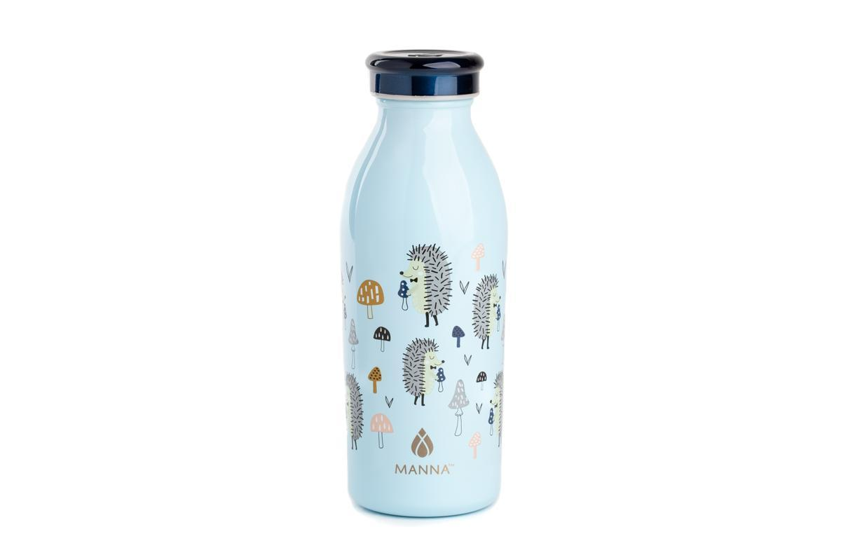12oz Vacuum Insulated Water Bottle -  Blue Hedgehog - Water Bottles - Manna - Naiise