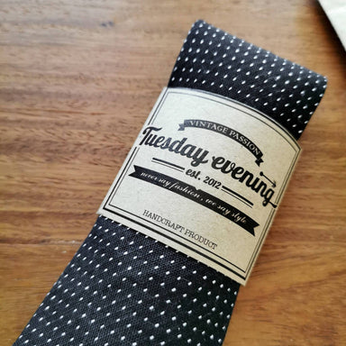 Necktie Polka dot Black | Navy - Ties - Tuesday Evening - Naiise