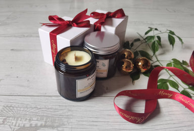 Christmas Collection : Bundle of 2 Soywax Candles 3.5 oz - Scented Candles - Alletsoap - Naiise