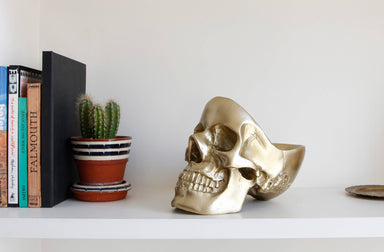 Suck UK - Gold Skull Tidy Home Organisation The Planet Collection