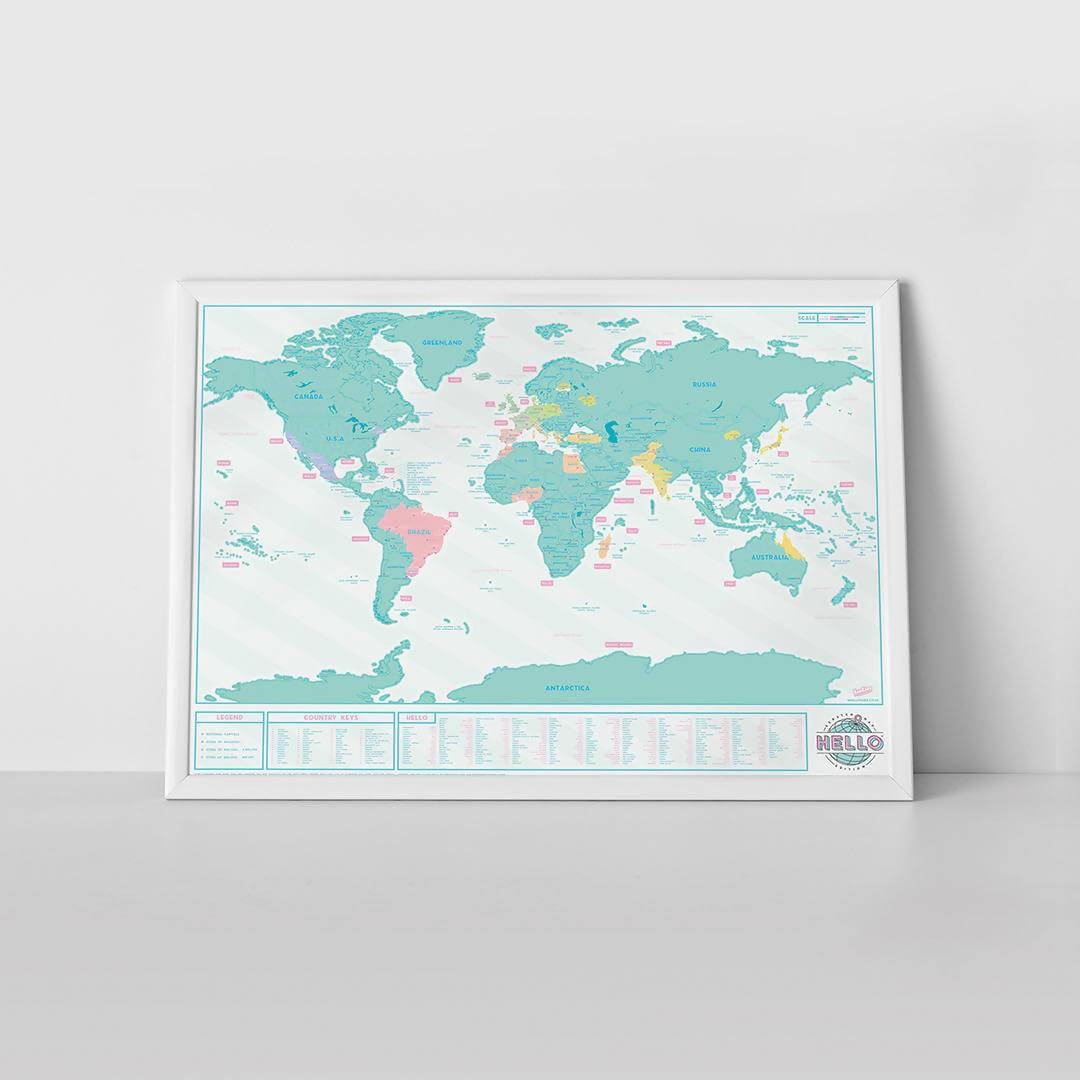 Scratch Map- Hello Map - Scratch Maps - The Planet Collection - Naiise
