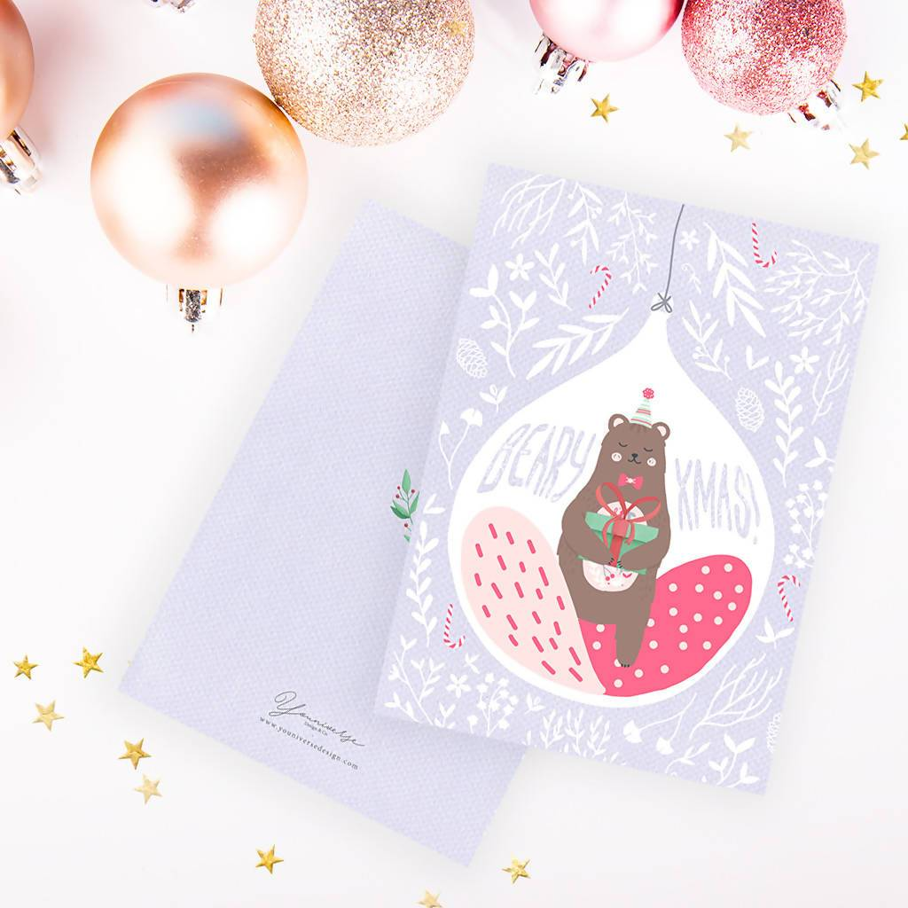 Christmas (Bear Ornament) Card - Christmas Cards - YOUNIVERSE DESIGN - Naiise