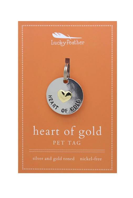 Lucky Feather - Heart of Gold Pet Tag - Pet Accessories - The Planet Collection - Naiise