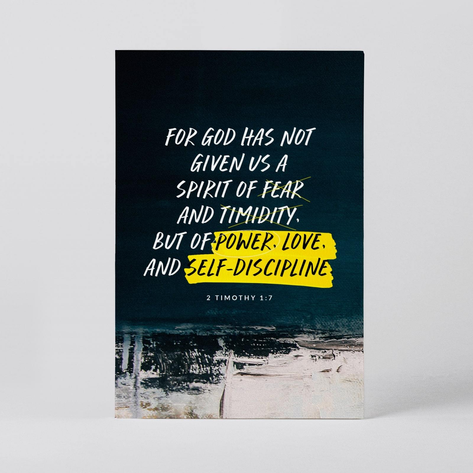 2 Timothy 1:7 Postcard - Postcards - Actseed Co. - Naiise