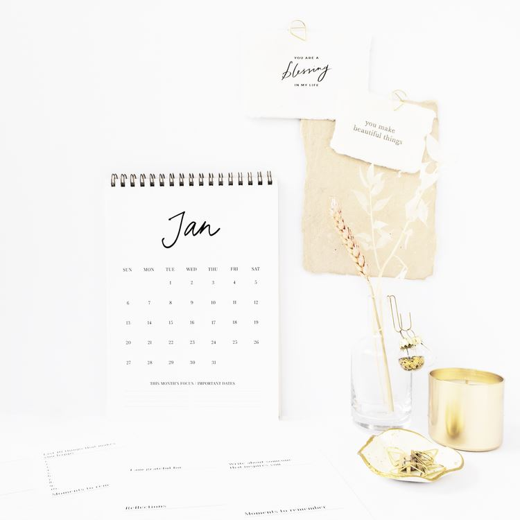 2019 Calendar Calendars Mint & Ordinary