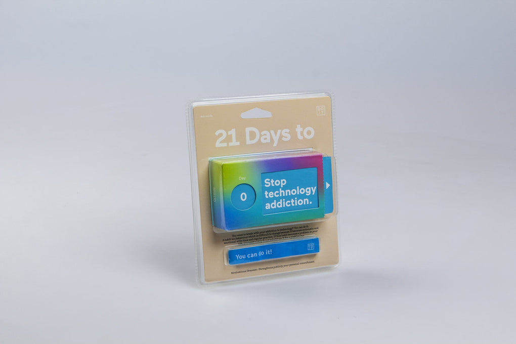 21 days to stop tech addiction Card Games doiy