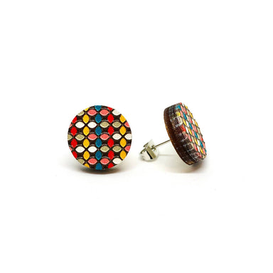 Candy Pops Wooden Earrings - Earring Studs - Paperdaise Accessories - Naiise