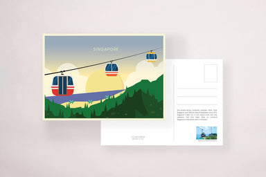 Cable Car Sentosa Postcard - Local Postcards - YOUNIVERSE DESIGN - Naiise