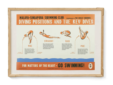 Straits Settlements Vintage Posters - Diving Positions - Prints - The Great Indoors - Naiise