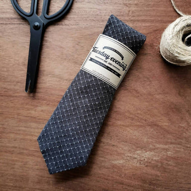 Necktie Grey Square Table - Ties - Tuesday Evening - Naiise