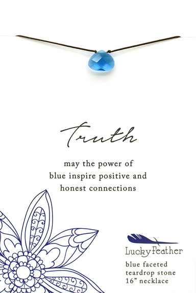 Lucky Feather - Color Power Necklace (Blue) - Necklaces - The Planet Collection - Naiise