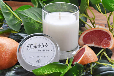 Bamboo and White Grapefruit Soy Candle Scented Candles Twinkles by Gladys