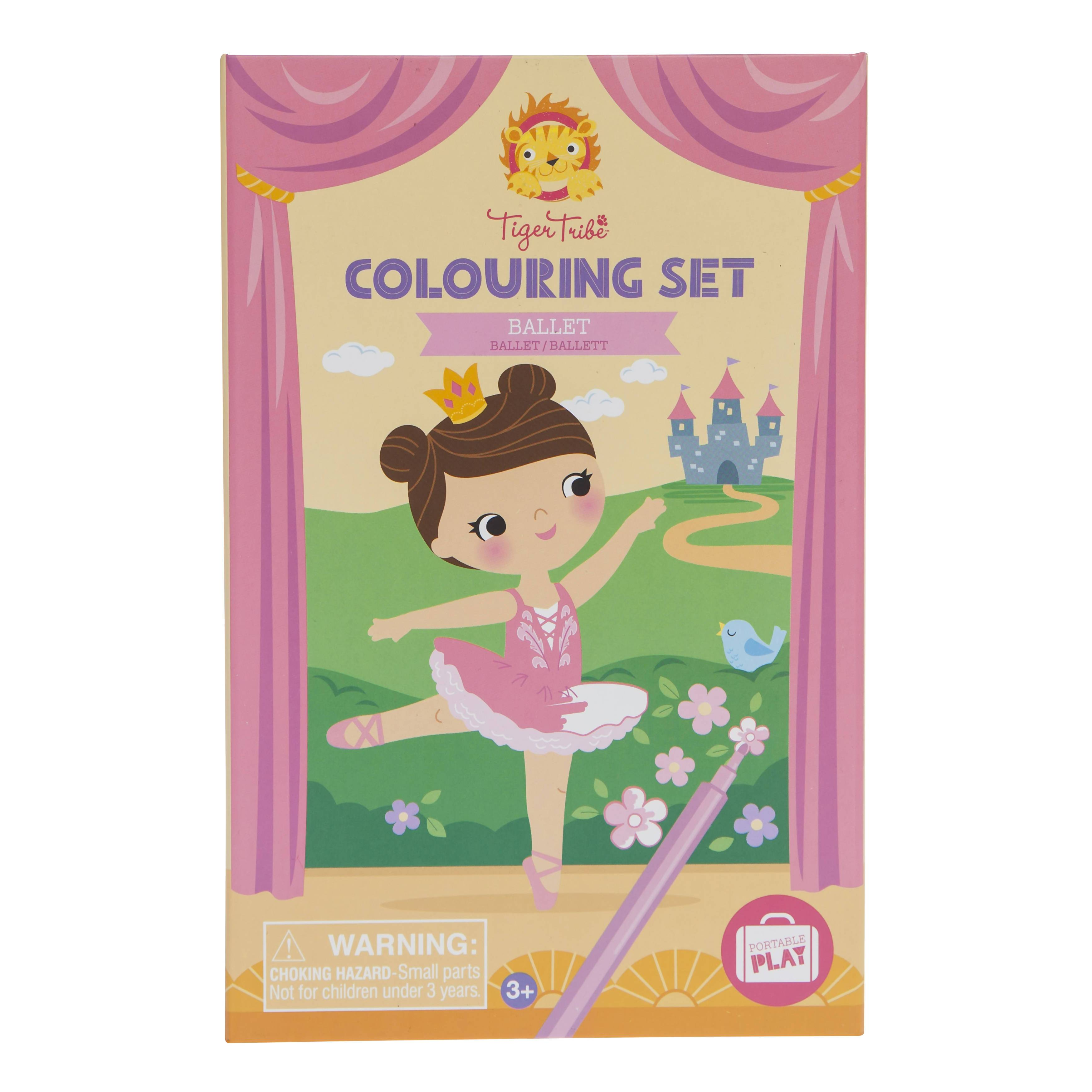 Tiger Tribe Colouring Sets - Ballet - Children Colouring Books - The Children's Showcase - Naiise
