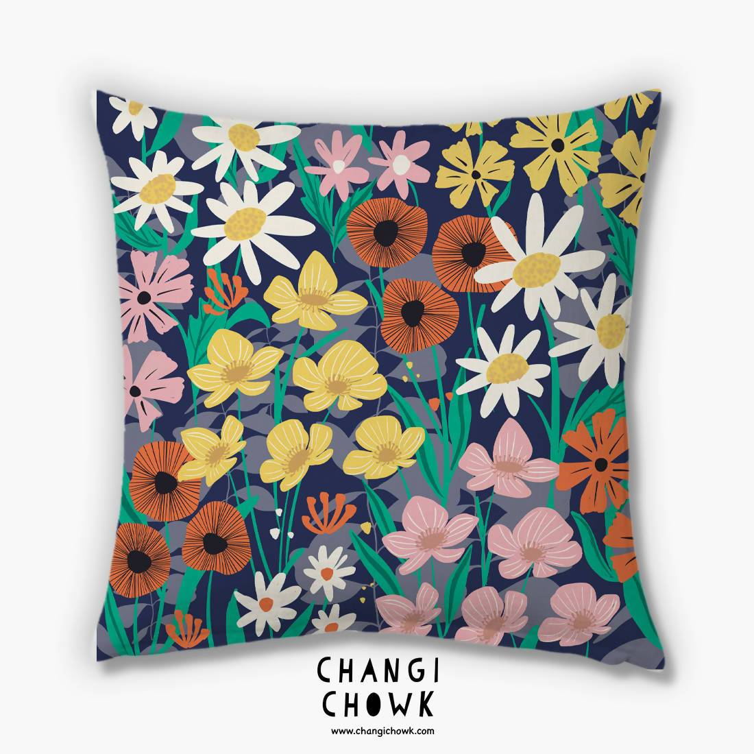 Cushion Cover - Wildflower Meadow - Cushion Covers - Changi Chowk - Naiise