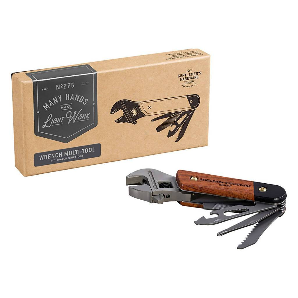 The Gentlemen's Hardware - Wrench Multi-Tool - Home Tools - The Planet Collection - Naiise
