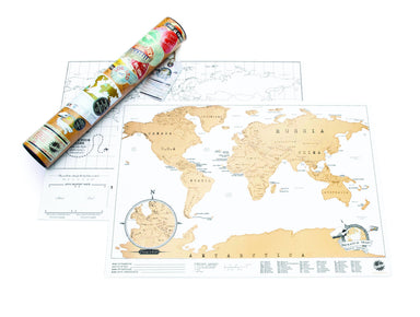 Scratch Map - Travel Edition - Scratch Maps - The Planet Collection - Naiise