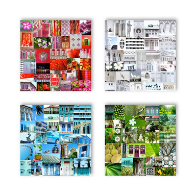 4X Singapore Colours No.2 Wall Art - New Arrivals - MB Art - MemoryBoards - Naiise