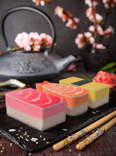 Washabi Sushi Sponges - 3 - Kitchen Cleaning - The Planet Collection - Naiise