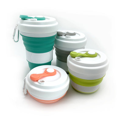 550ml Collapsible Cup Cups Bamboo Straw Girl