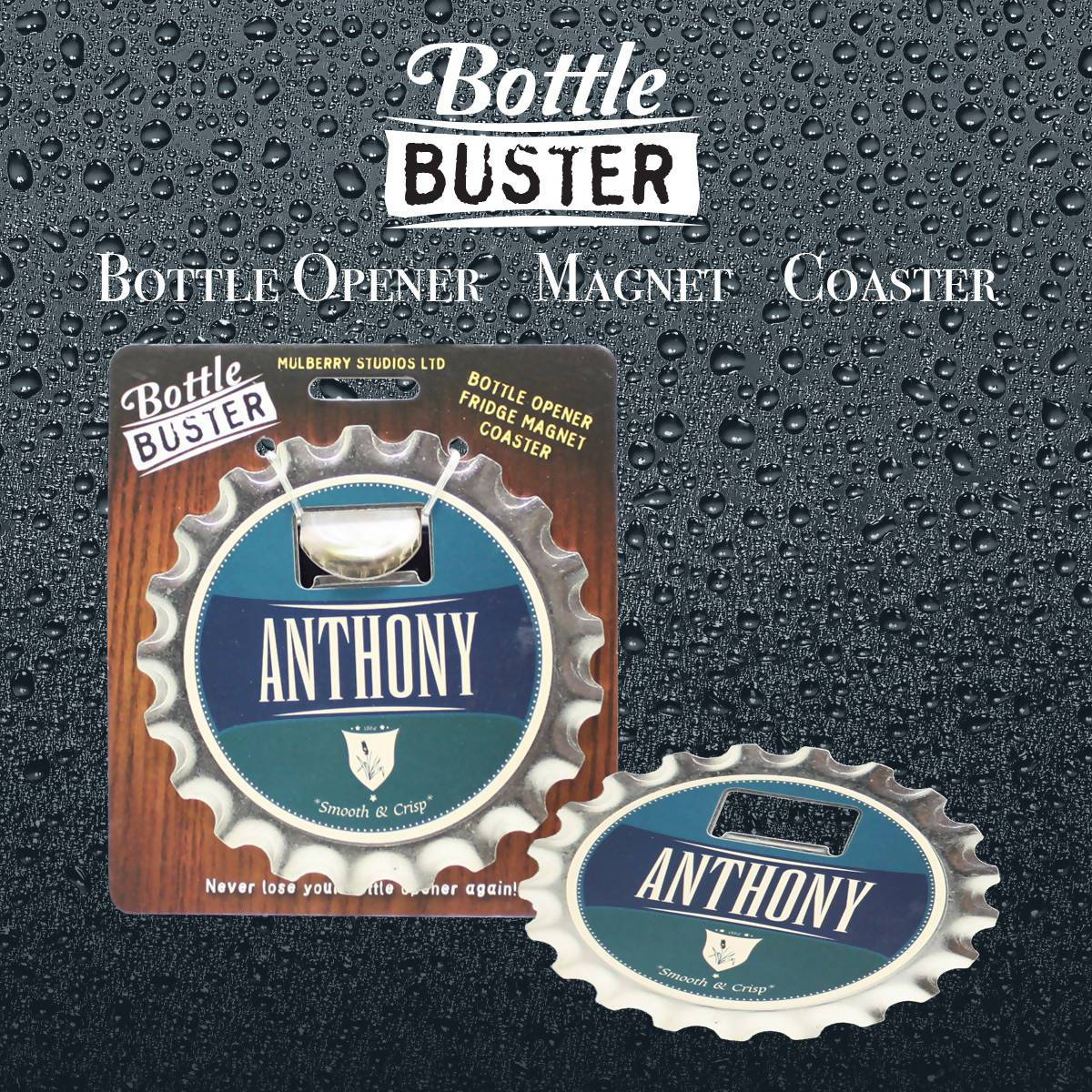 BOTTLE BUSTER - Best Bottle Opener : Anthony - Bottle Openers - La Belle Collection - Naiise