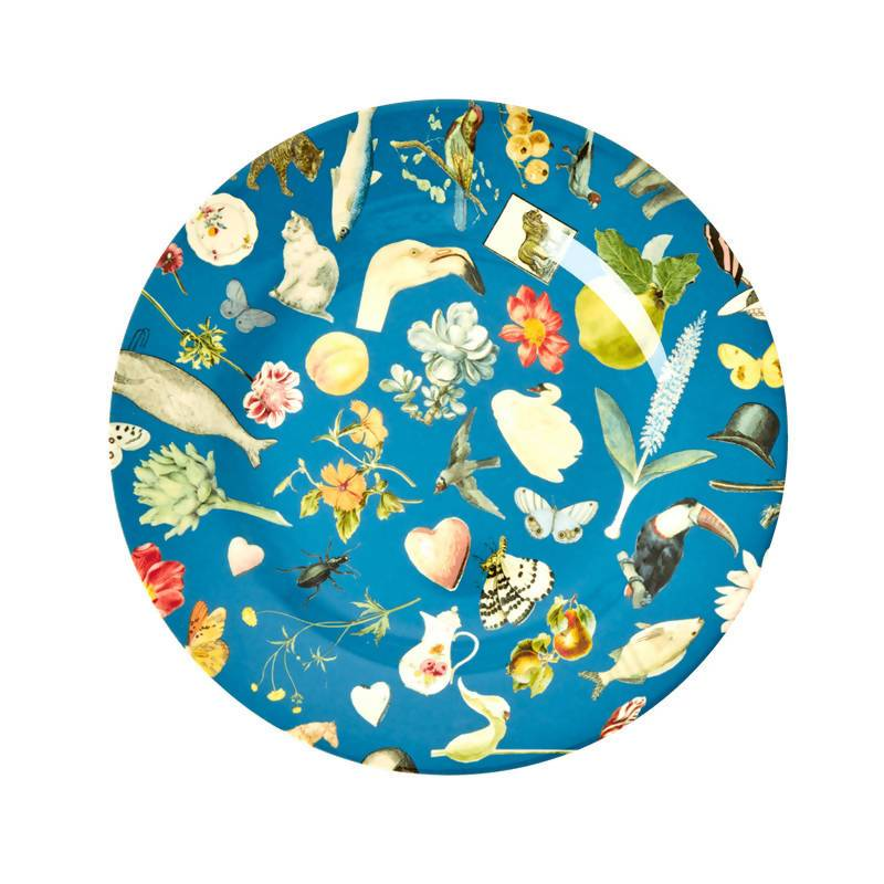 Melamine Side Plate with Blue Art Print - Joëlle - Kitchenware - The Children's Showcase - Naiise