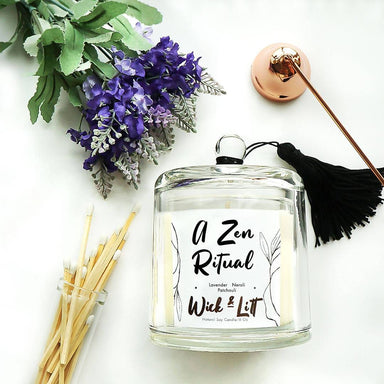 A Zen Ritual Candle - Scented Candles - Wick & Litt - Naiise
