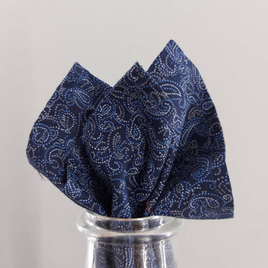 Pocket Square - ฺBlue Paisley - Pocket Squares - Tuesday Evening - Naiise