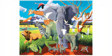 500-pc Boxed Puzzle - Wild Safari - Puzzles - The Children's Showcase - Naiise