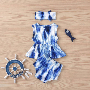 Nautical Tie Dye Three Piece - Kids Clothing - Ethan & Friends - Naiise