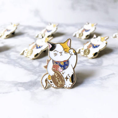 Fortune Cat Pin Brooches The Cat Inspired