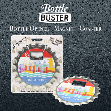 BOTTLE BUSTER - Best Bottle Opener : SG Colorful City - Bottle Openers - La Belle Collection - Naiise