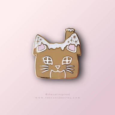 Gingerbread Cat House Pin Brooches The Cat Inspired