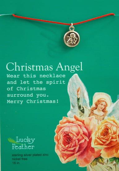 Lucky Feather - Christmas Angel Necklace - Necklaces - The Planet Collection - Naiise