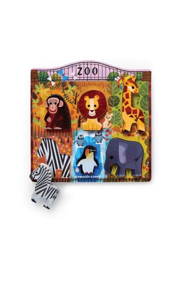 6pc Wood Puzzle - At the Zoo - Kids Puzzles - The Children's Showcase - Naiise