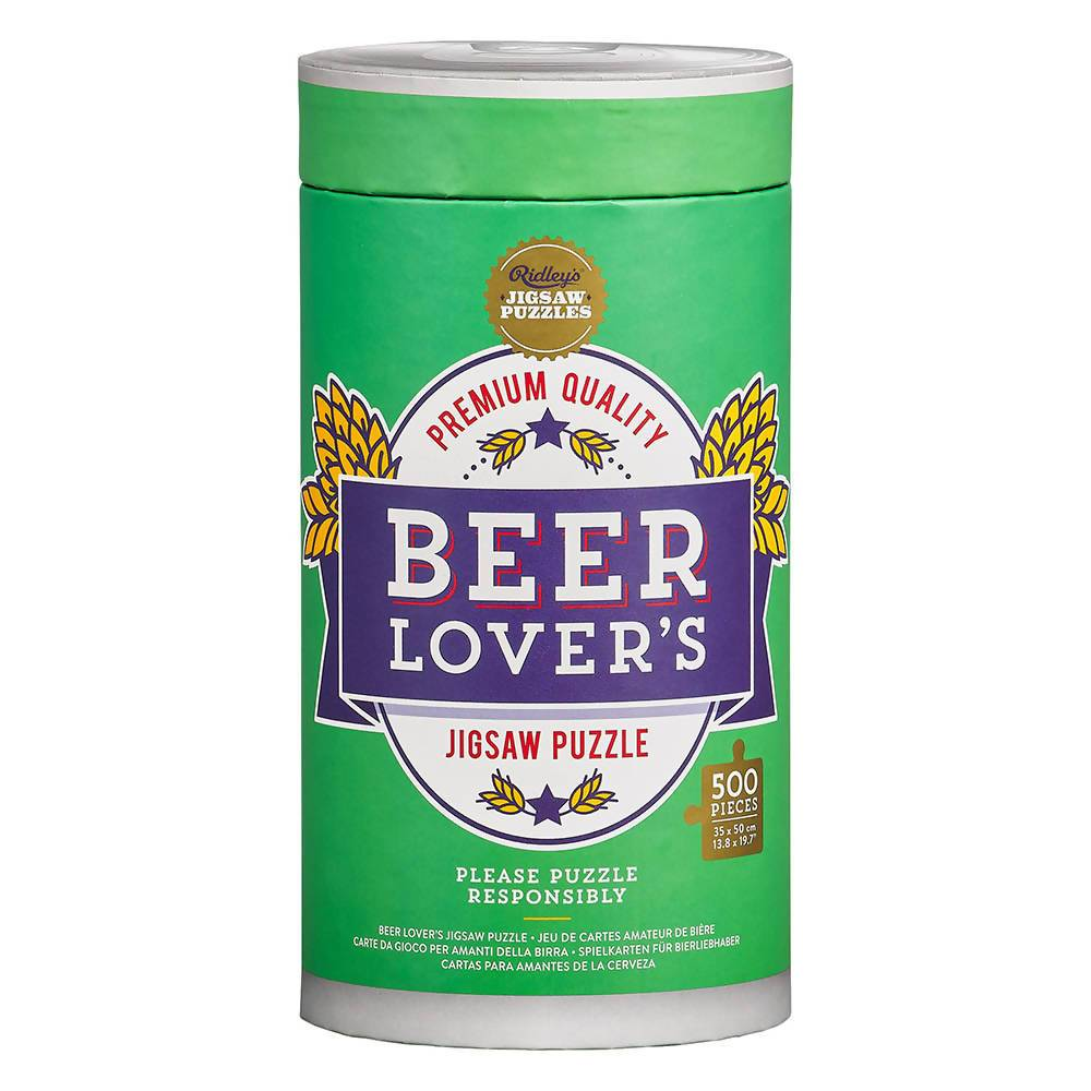 Ridley's Beer Lover's Jigsaw Puzzle 500pcs - Puzzles - The Planet Collection - Naiise